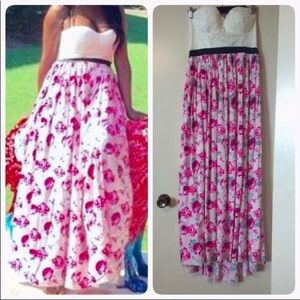 Floral dress in large size
